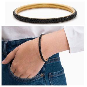 KATE SPADE Black CZ Razzle Dazzle Bangle Bracelet